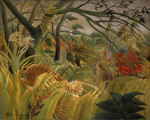 rousseau - tiger in a tropical storm